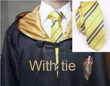 Hogwarts Cosplay Costume Robe Cloak with Tie Scarf - Hufflepuff