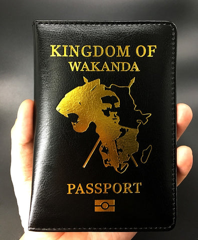 Kingdom of wakanda black panther passport cover