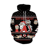 Rick And Morty Christmas Print Hoodies
