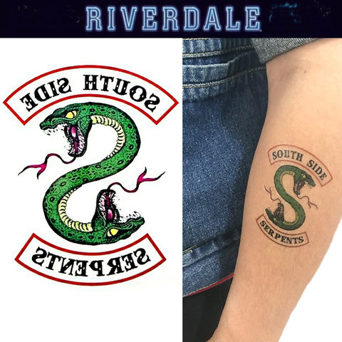 Riverdale Temporary Tattoo 5 South Side Serpents