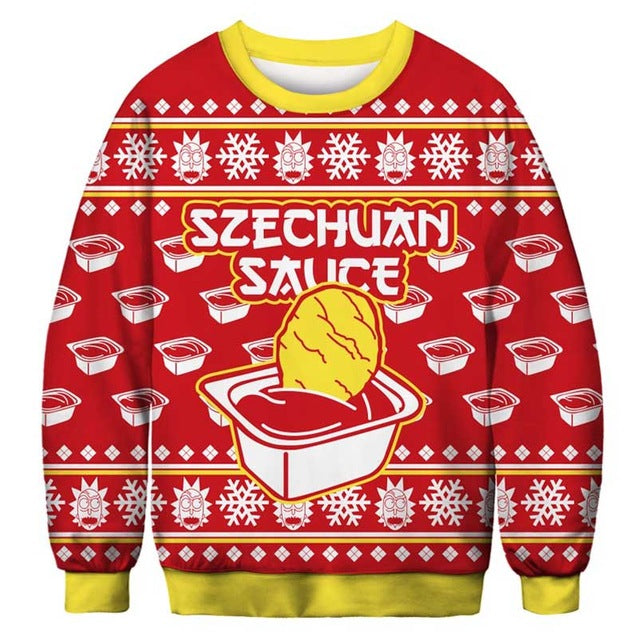Rick And Morty Ugly Christmas Sweater.Rick And Morty Christmas Sweatshirts