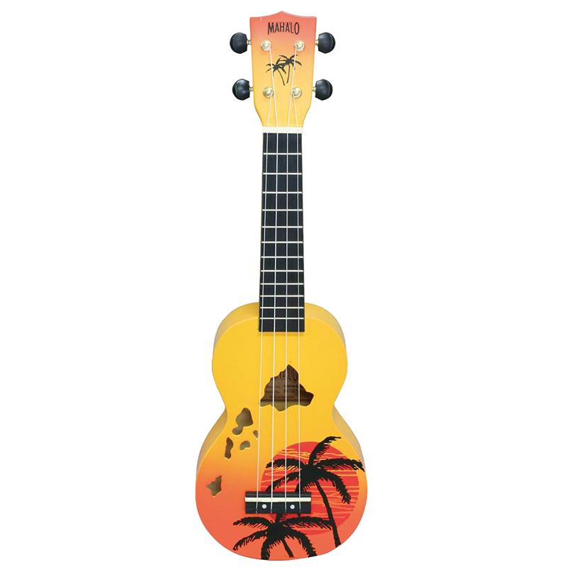 Mahalo Designer Series Palm Tree Orange Burst Soprano