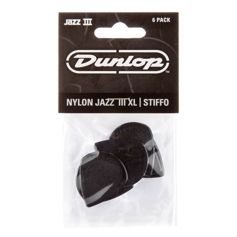 Jim Dunlop JP5XLS Jazz III XL Players Pack Black Nylon Stiffo