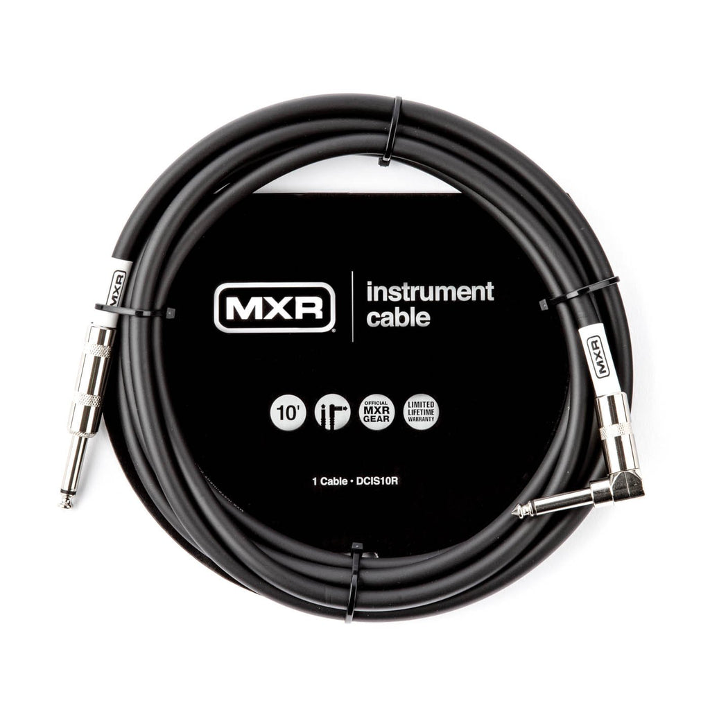 MXR 10 foot Standard Instrument Cable w/Right Angle