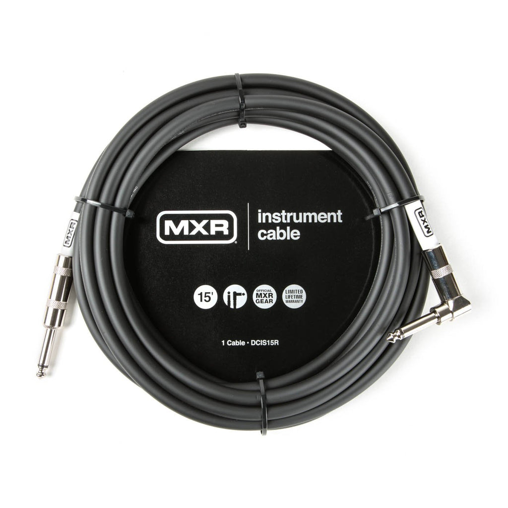 MXR 15 foot Standard Instrument Cable w/Right Angle