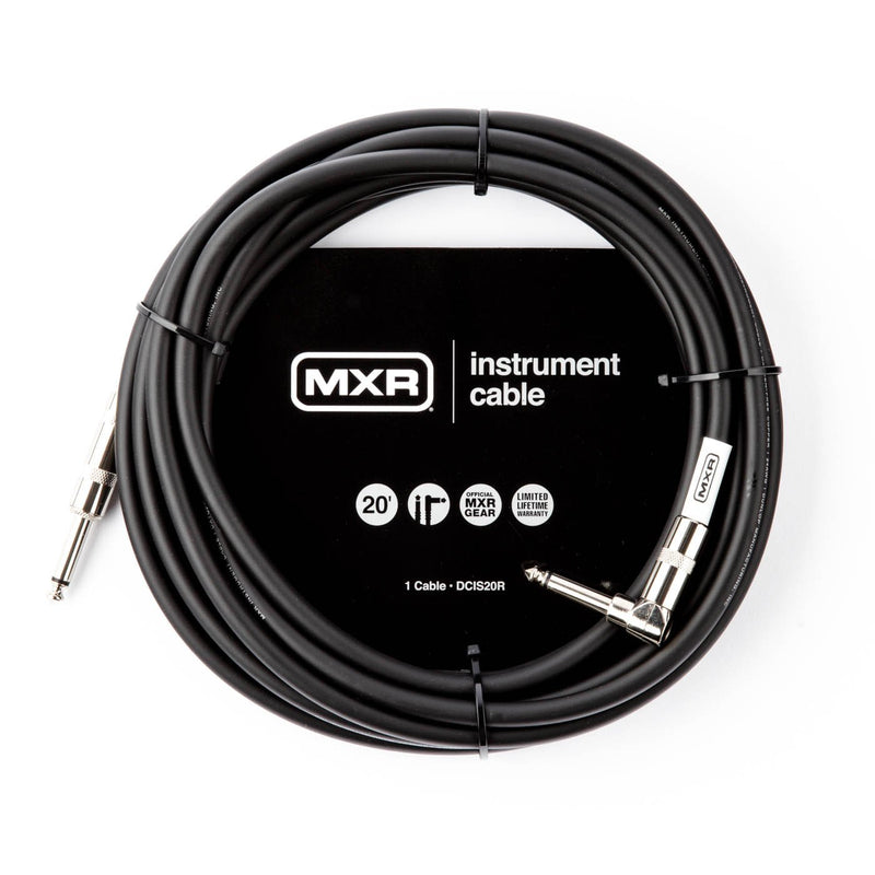 MXR 20 foot Standard Instrument Cable w/Right Angle
