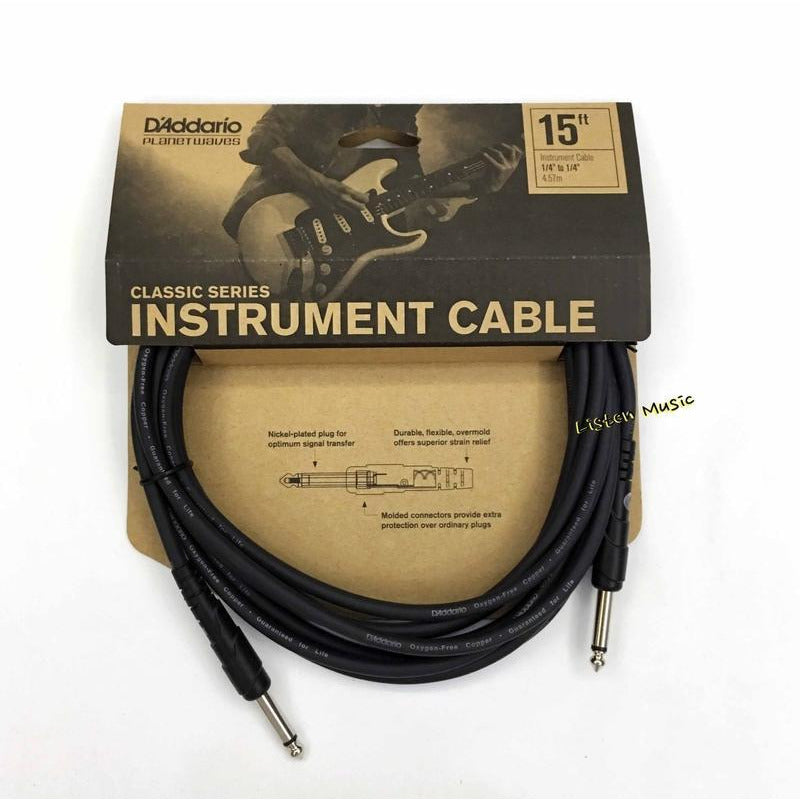 D'Addario 15 foot Classic Series Instrument Cable