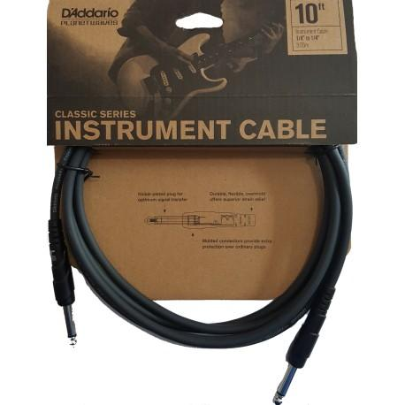 D'Addario 10 foot Classic Series Instrument Cable