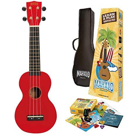 Mahalo MR1 Essentials Ukulele Pack - Red