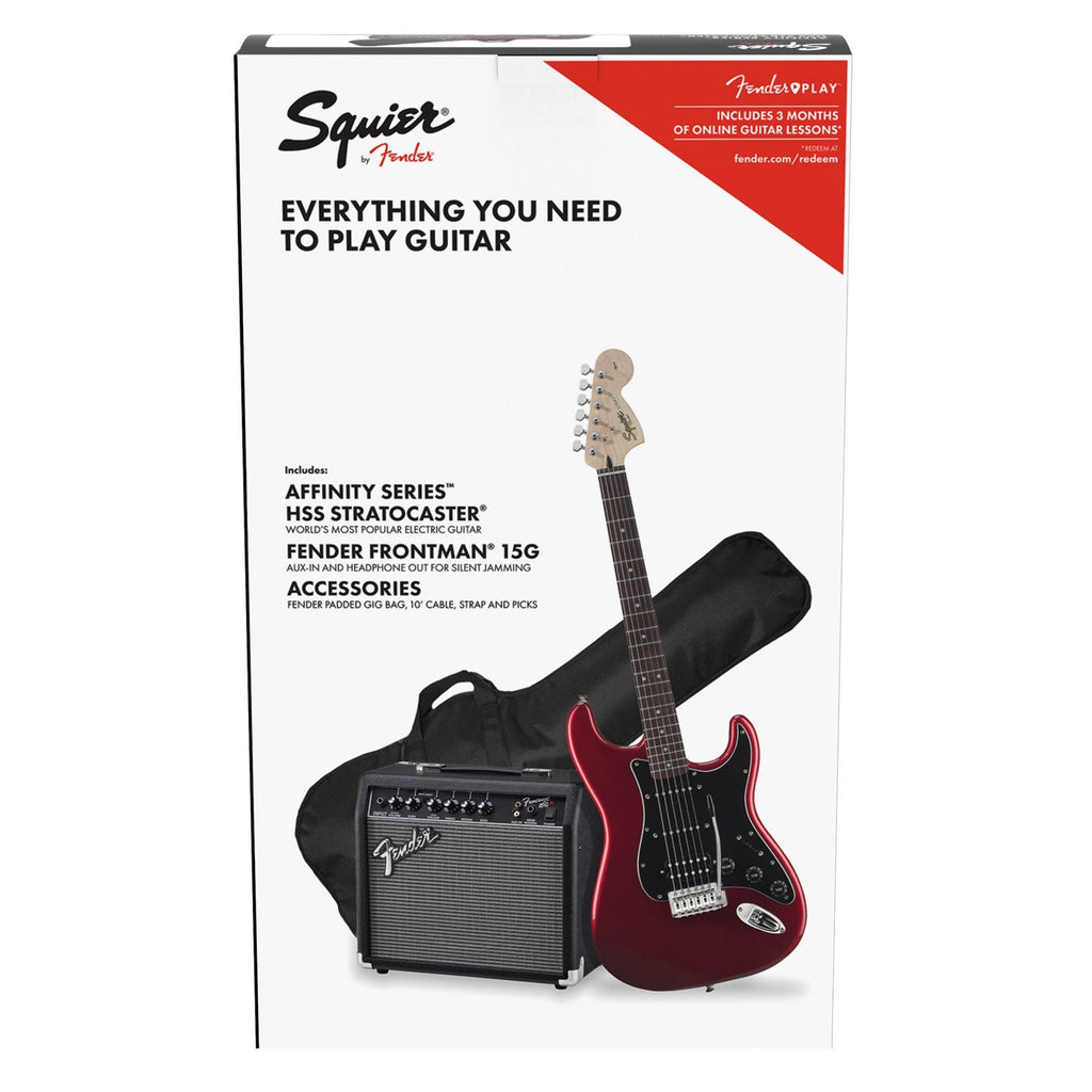 Squier Affinity HSS Strat Pack Candy Apple Red