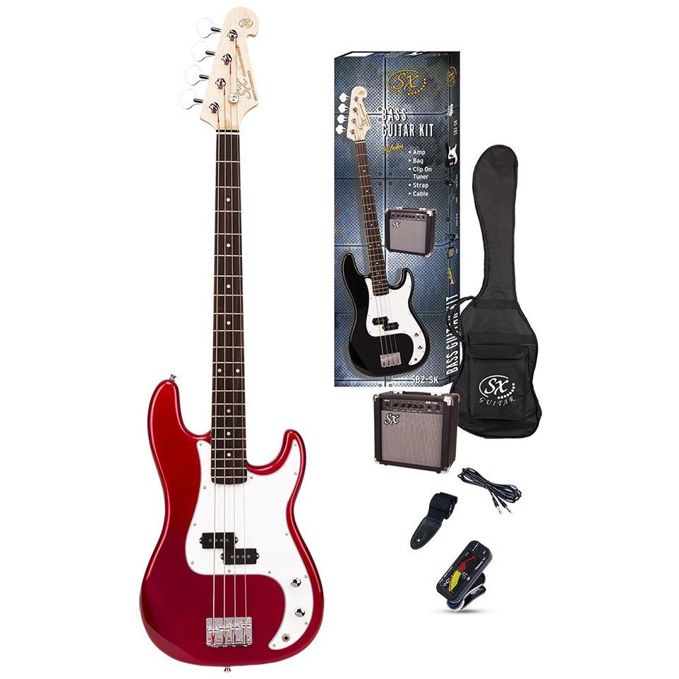 Essex Electric Bass Pack Candy Apple Red