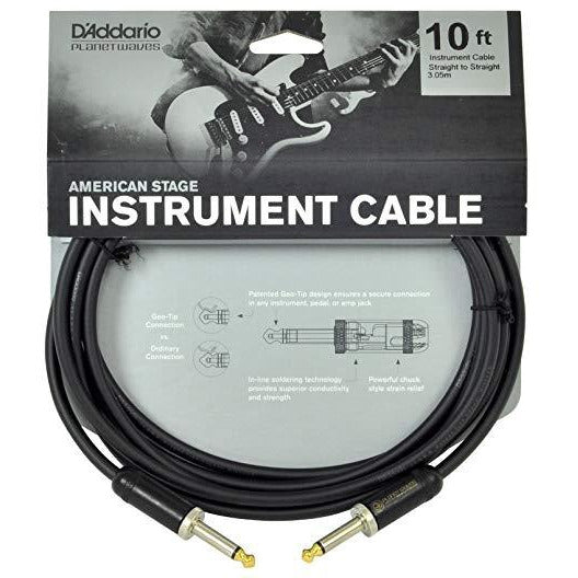 D'Addario 10 foot American Stage Instrument Cable