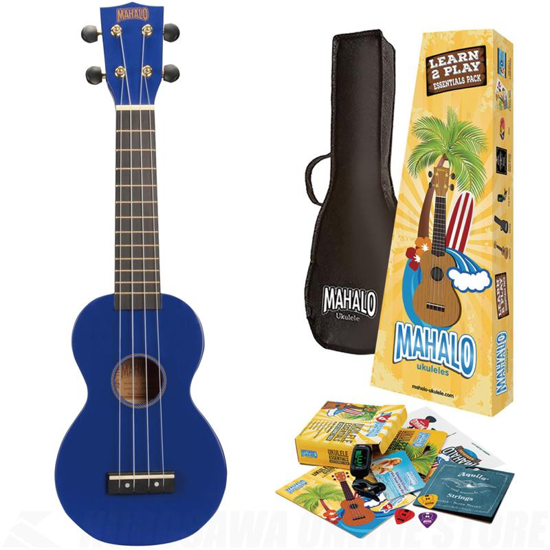 Mahalo MR1 Essentials Ukulele Pack - Blue