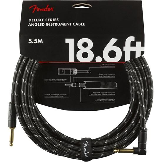 Fender Deluxe Series 18ft Instrument Cable Tweed Straight/Right