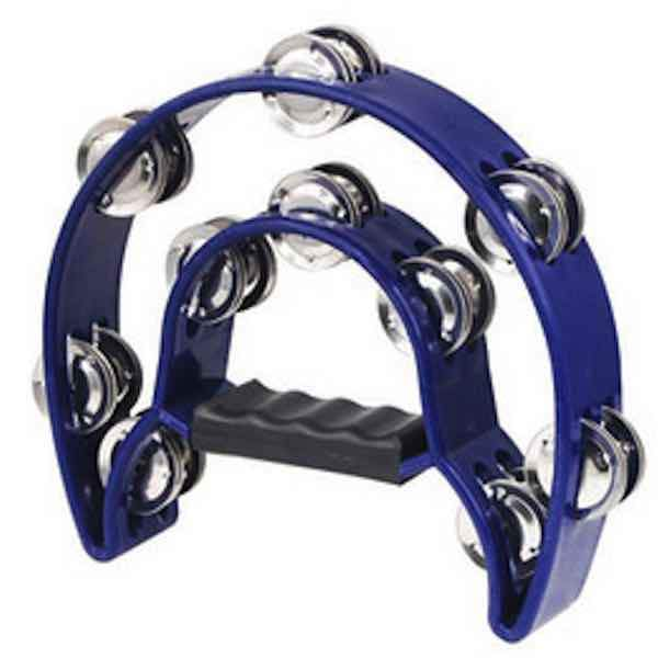 Mano Percussion TMP13 1/2 Moon Tambourine Blue