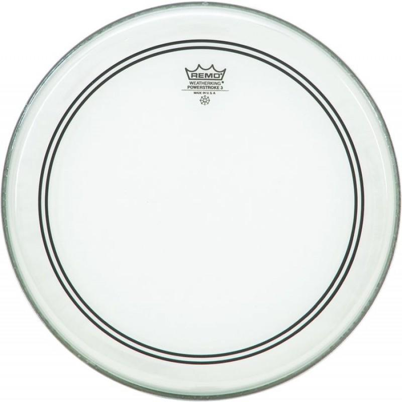 Remo 14 inch Powerstroke 3 Clear - Top Clear Dot