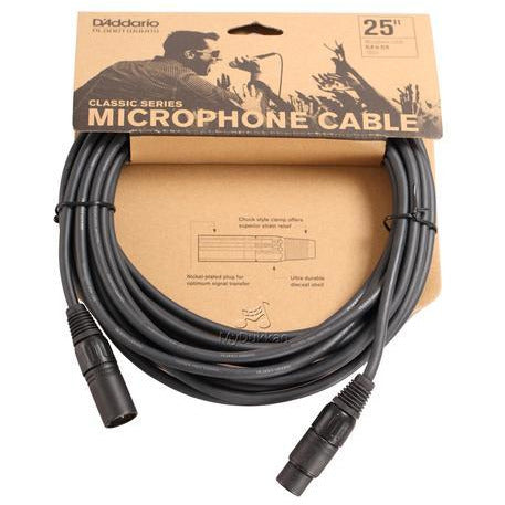 D'Addario 25 foot Classic Series Microphone Cable