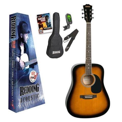 Redding Red50 Acoustic Guitar Pack Tobacco Sunburst