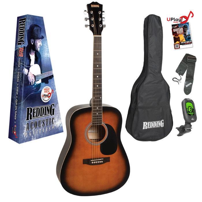 Redding RED50 Left Hand Acoustic Guitar Pack - Sunburst
