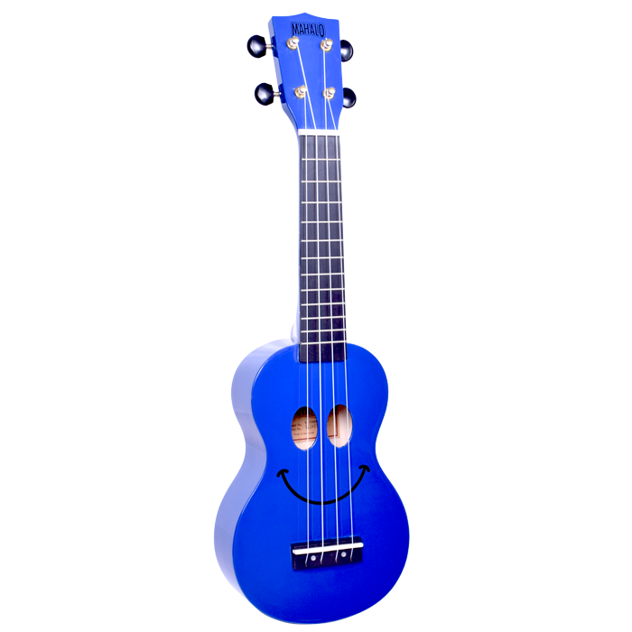 Mahalo U60SM Smiley Face Ukulele - Blue