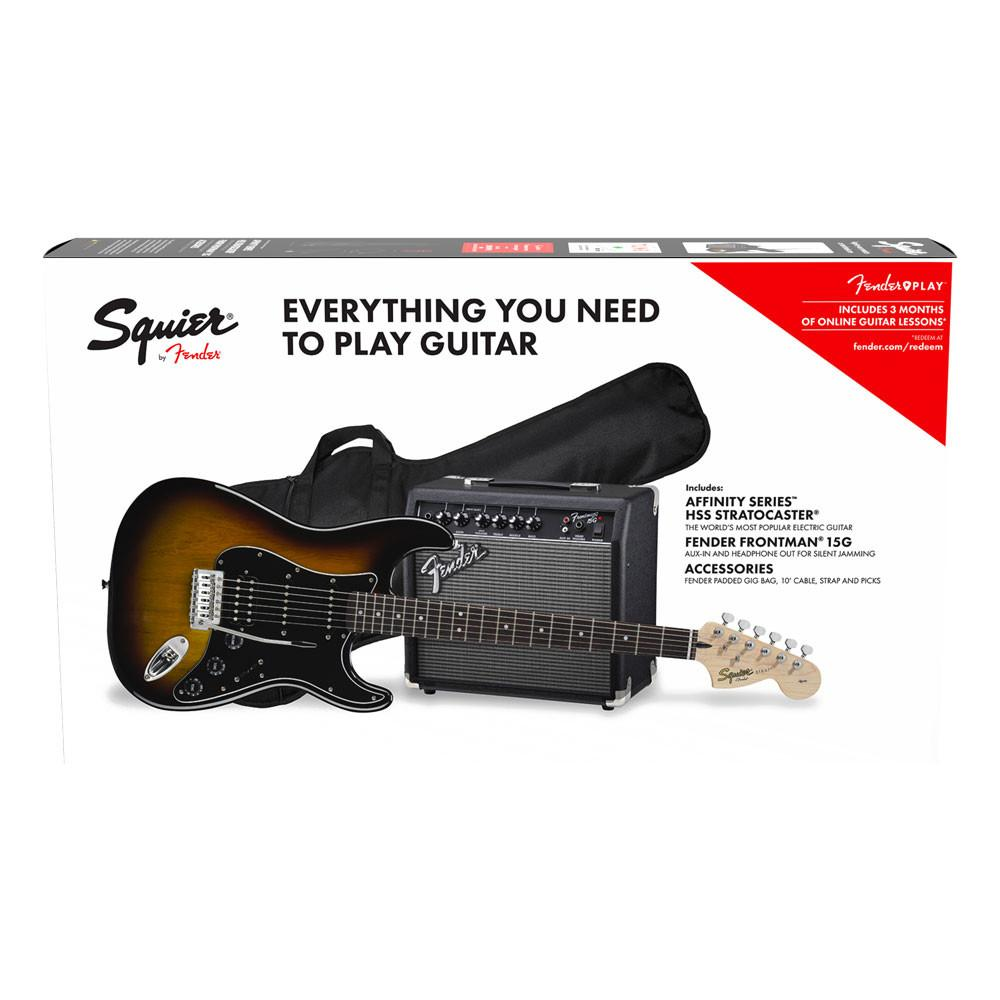 Squier Affinity HSS Strat Pack Brown Sunburst