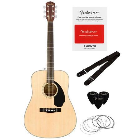 Fender CD-60S Acoustic Guitar V2 Pack Natural