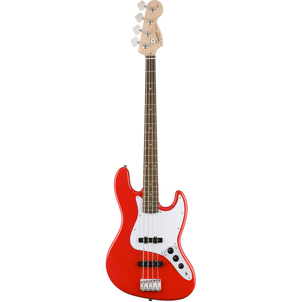 Squier Affinity Series Jazz Bass Race Car Red