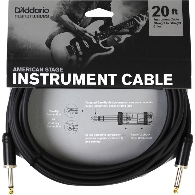 D'Addario 20 foot American Stage Instrument Cable