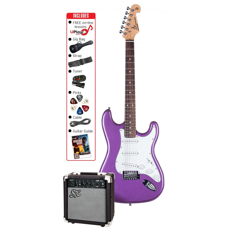 Essex SE1SK Electric Guitar Pack Metallic Purple