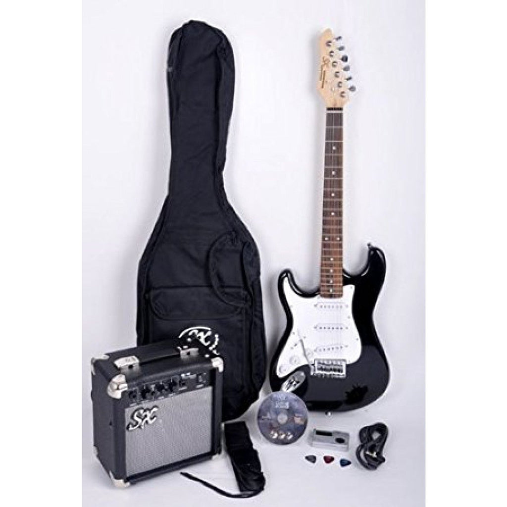 Essex SE1SK Stratocaster Style Electric Guitar Pack - Lefty - Black