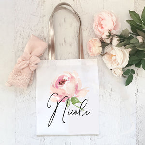 Personalized Floral Tote