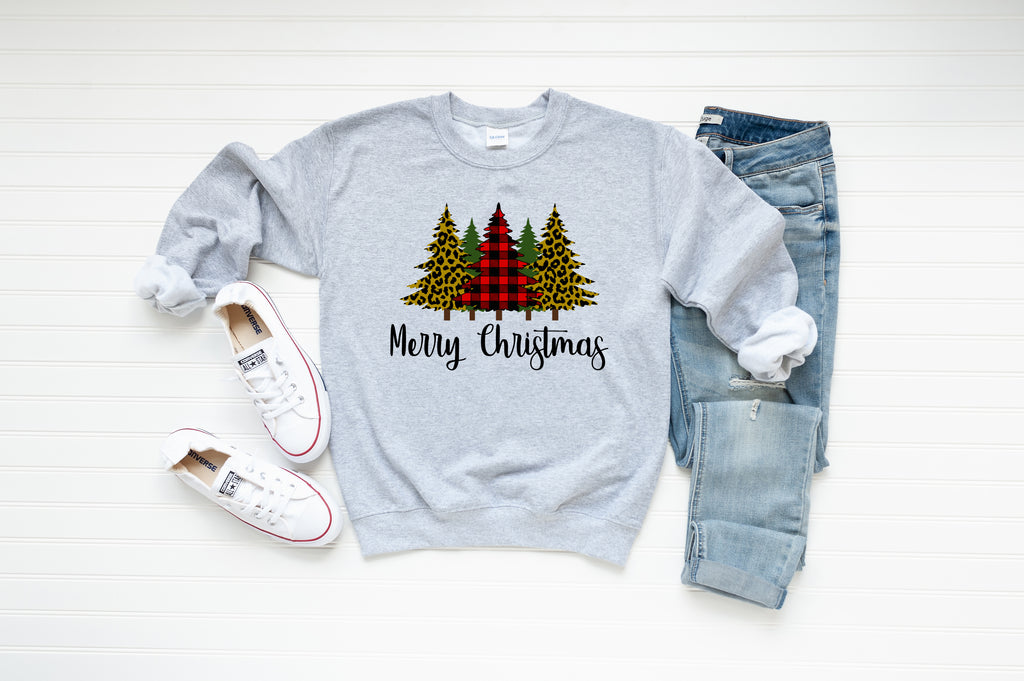 Merry Christmas Cheetah Sweatshirt