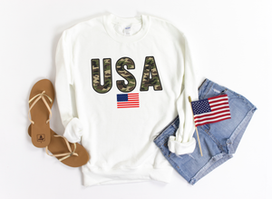 Camo USA Crew Neck Sweatshirt