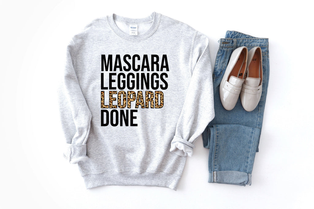 Mascara Leggings Leopard Done Sweatshirt