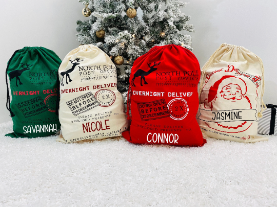 Jumbo Personalized Santa Sacks