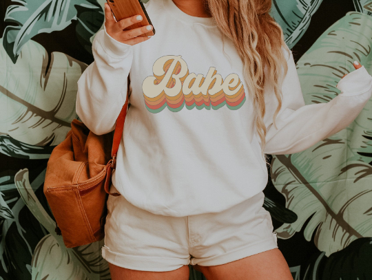 Retro Babe Sweatshirt