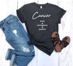 cancer shirt, cancer astrological sign shirt, cancer sign shirt, cancer birthday gift, gift idea, birthday gift, personalized gift