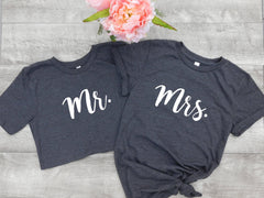 Mr and Mrs Shirts - Mr Shirt - Mrs Shirt - Husband Shirt - Wife Shirt - Engagement Gift - Newlywed Tee - Groom T - Bride T - Honeymoon Shirt