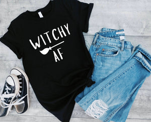 Witchy Af Tee - Halloween Shirt - Womens Halloween costume - Girl Halloween Shirt - Halloween shirts For Women - Funny halloween shirt