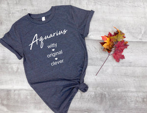 aquarius sign shirt, aquarius astrological sign shirt, aquarius shirt, aquarius birthday gift, gift idea, birthday gift, horoscope gift