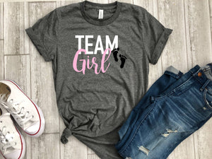 gender reveal shirts- team boy shirt - team girl shirt - its a girl shirt - its a boy shirt - gender reveal idea - gender reveal tees