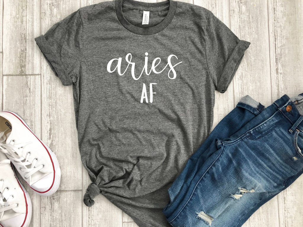aries AF shirt, aries astrological sign shirt, aries sign shirt, aries birthday gift, gift idea, birthday gift, personalized gift, gift