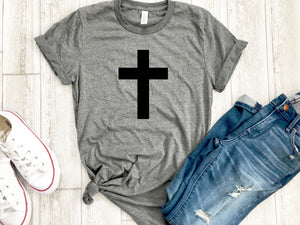 Womens cross shirt -  Cross tshirt - Cross tee - Womens Christian apparel - Womens Christian shirt - Easter shirt - Womens Easter shirt