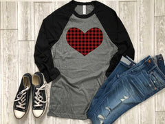 buffalo plaid shirt - valentines day shirt - buffalo plaid heart shirt - heart shirt - valentines day gift - gift for her - women shirt