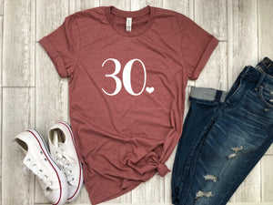 Thirty af - 30th bday shirt -  Thirty shirt -  30th birthday gift -  funny birthday shirt - gift her - birthday party shirt - dirty thirty