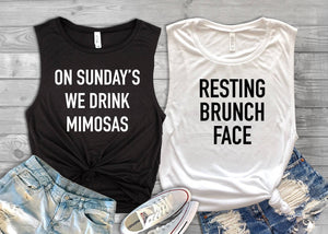 Brunch tank, Resting brunch face, mimosa tank, sunday tank, funny brunch shirt, brunch tee, mimosa tee, sunday brunch tee, brunch tee