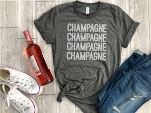 Womens graphic tee - champagne shirt - champagne tee - cheers - bridal party shirt - mimosas - new years tee - brunch shirt - vacation shirt