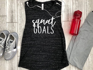 Squat Goals Tank - Funny Gym Tank - Fitness Tank Top - Workout Tank Top - Yoga shirt - Muscle Tank Top - Gym shirt - Gym Tank