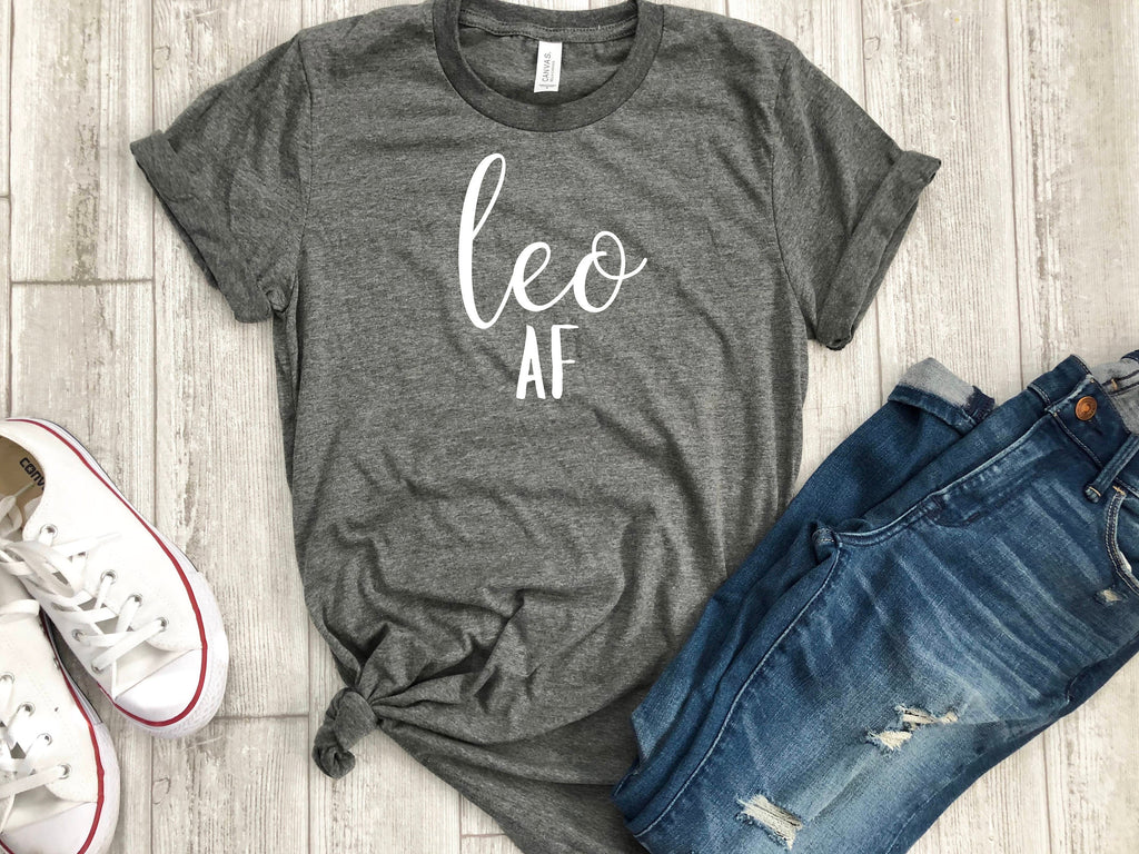 leo AF shirt, leo astrological sign shirt, Leo shirt, Leo birthday gift, gift idea, birthday gift, personalized gift, gift for her