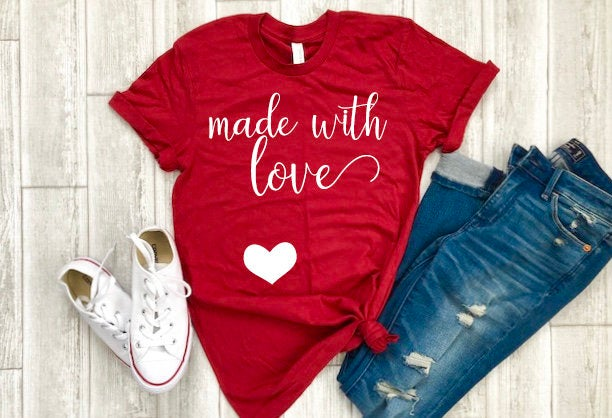 Pregnancy valentine shirt - womens pregnancy valentine shrit - valentines day shirt - buffalo plaid - valentines day gift - gift for her